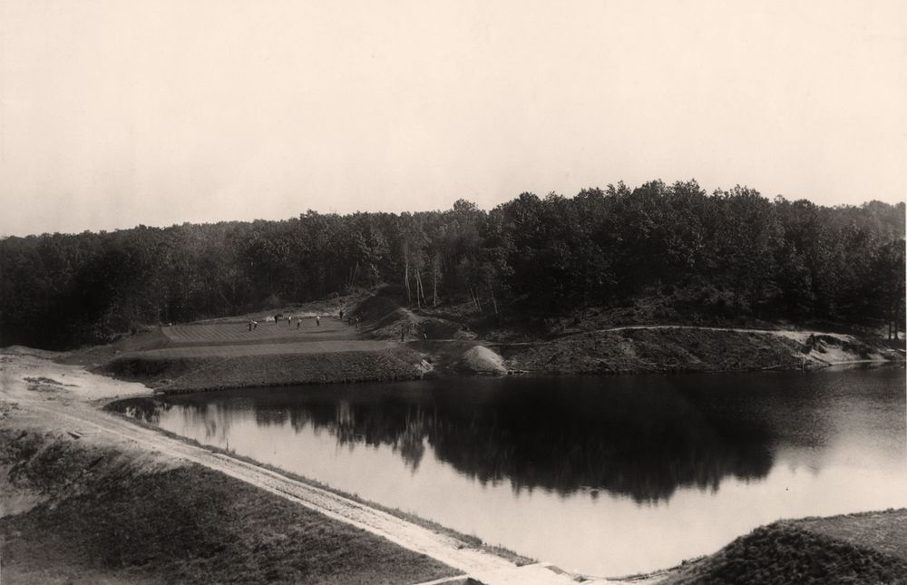 This is the 9th hole on the first day that the Course at Yale was open in 1925.