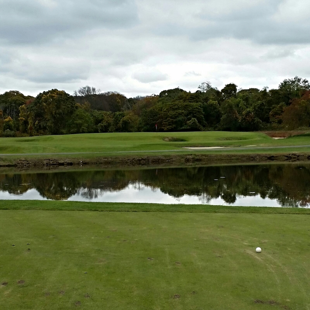 The par 3 13th at National Golf Links of America.