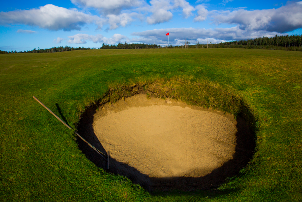 The strath bunker at Old Macdonald. Photo Credit:  Bandon Dunes Golf Resort  & Timothy Scahill.