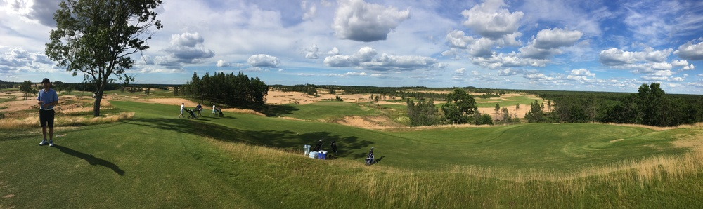 A panoramic of the view from the 5th tee box.