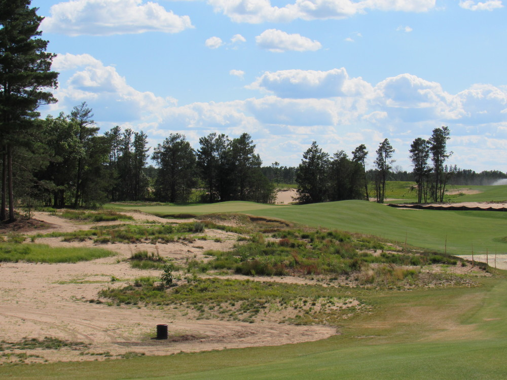 The par 3 3rd at Sand Valley.
