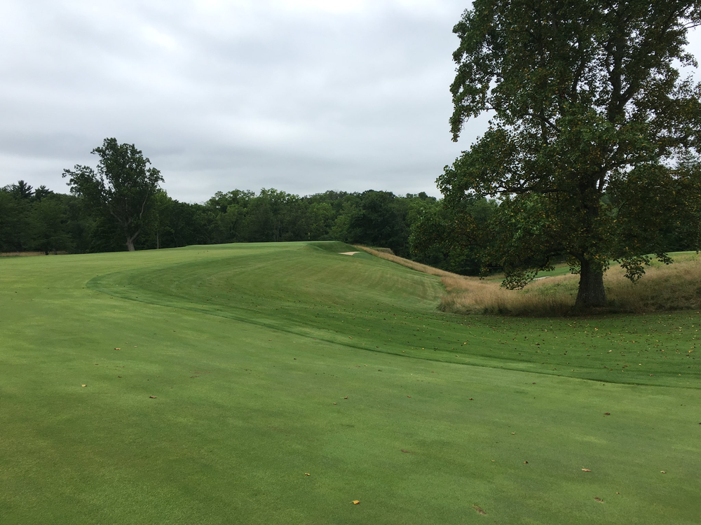 The tough second shot at Camargo Club's 13th. Photo Credit:  An Ambulent Golfer