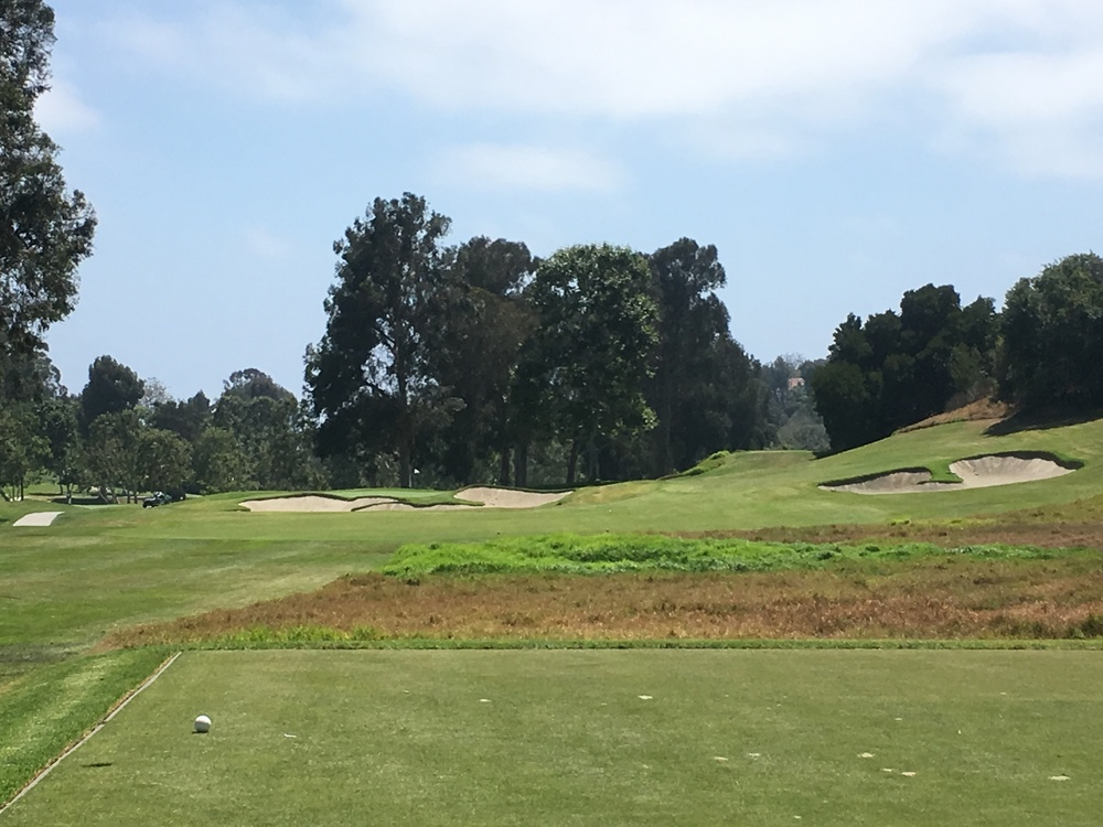 The 4th hole at the Riviera Country Club.