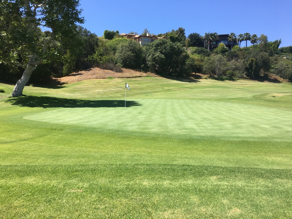 A look from behind the 4th hole at Riviera.