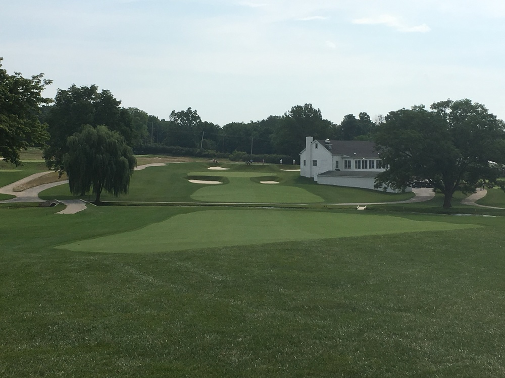 A look at the approach shot to the 2nd at Philadelphia Cricket Club.