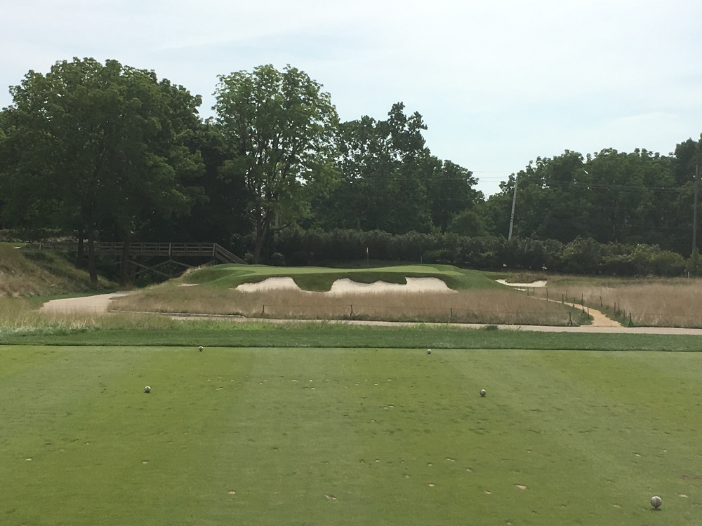 "The 3rd at Philadelphia Cricket Club a hole Tillinghast called ""Tiny Tim"""