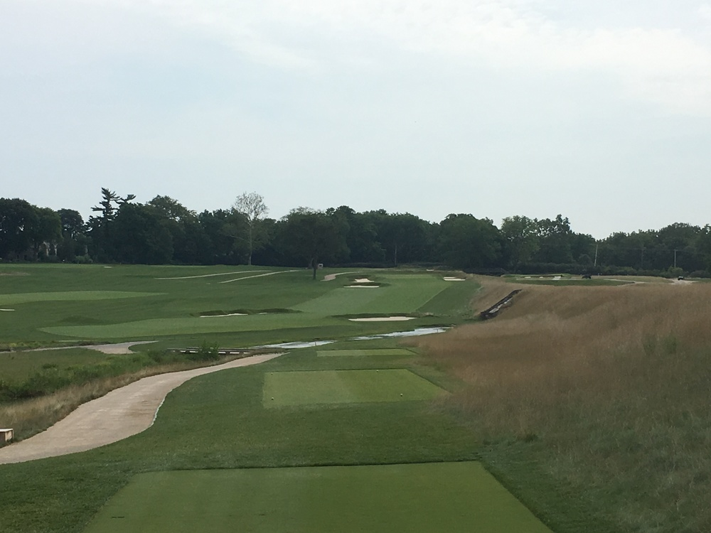 A look at the beautiful par 4 6th at Philadelphia Cricket Club