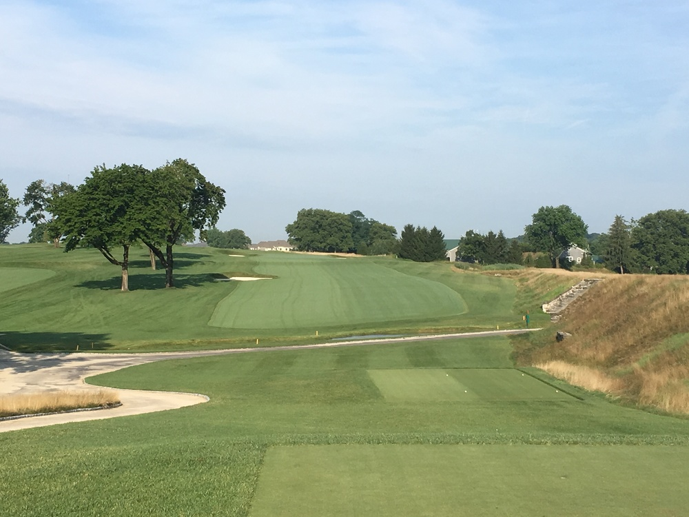 The uphill 11th at Philadelphia Cricket Club.
