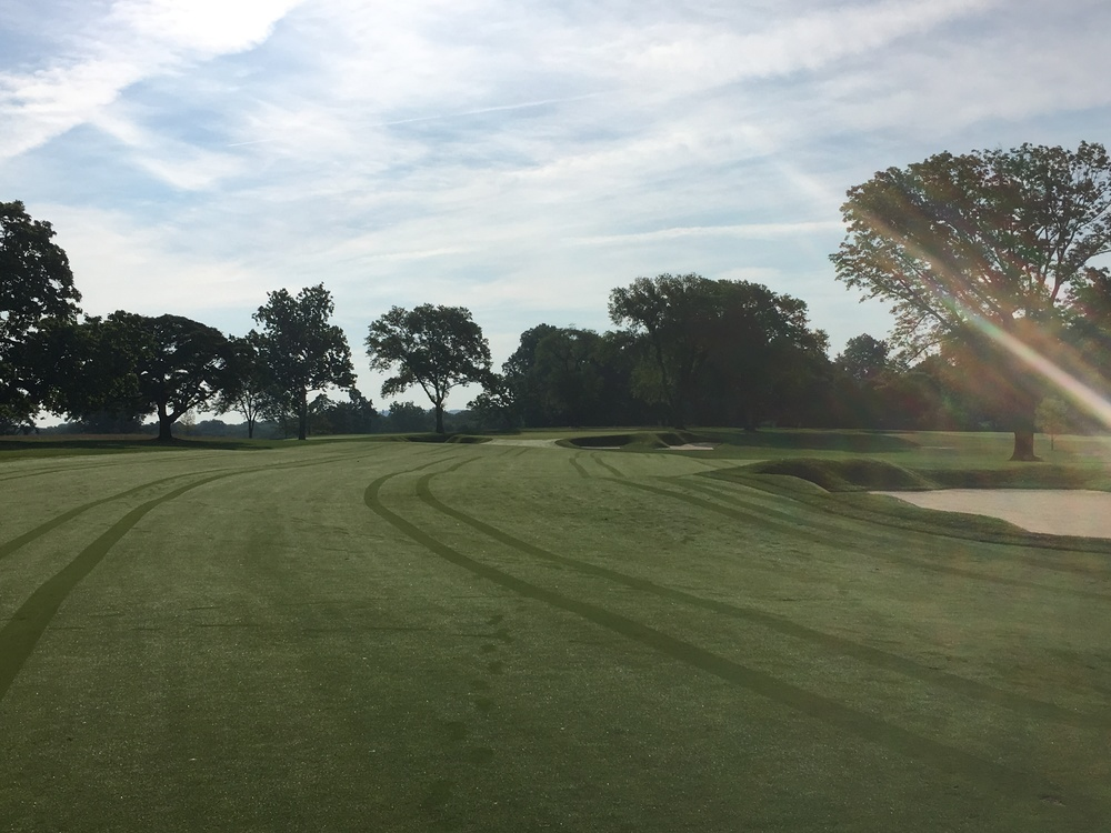 A good drive leaves a challenging approach shot to a well-protected green.