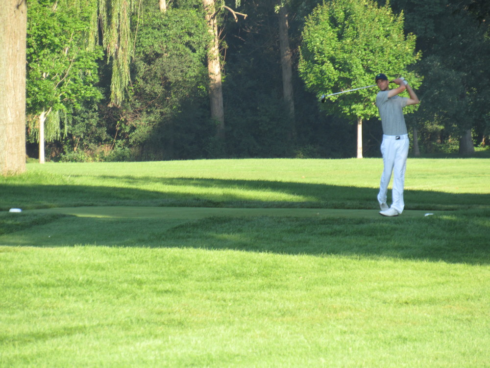 Price teeing off the 6th tee.