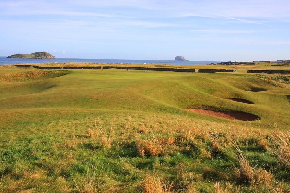 From the right of the green at North Berwick's 15th. Photo Credit:  North Berwick Golf Club.