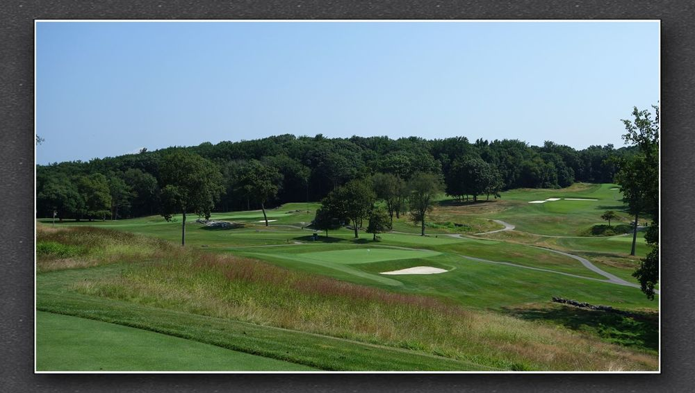 A look at the reverse redan at Sleepy Hollow Country Club Photo Credit: The Bausch Collection at  MyPhillyGolf.com