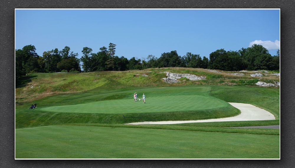 A look at the 7th green from the back right. The Bausch Collection at  MyPhillyGolf.com
