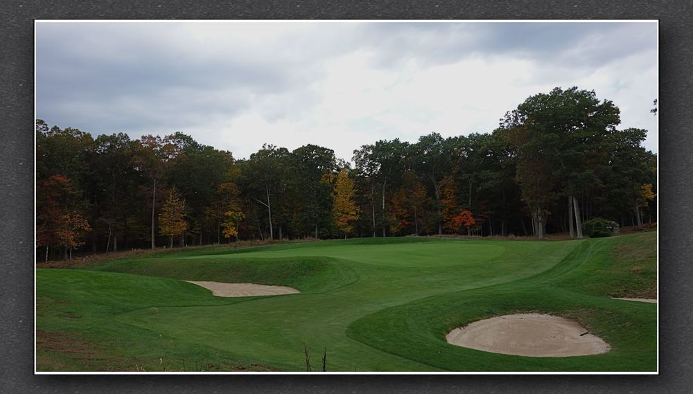 A closer look at the 13th green. Photo Credit: The Bausch Collection at  MyPhillyGolf.com