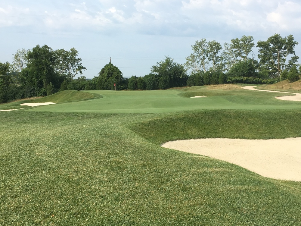 A look at the slope from in front of the 15th.