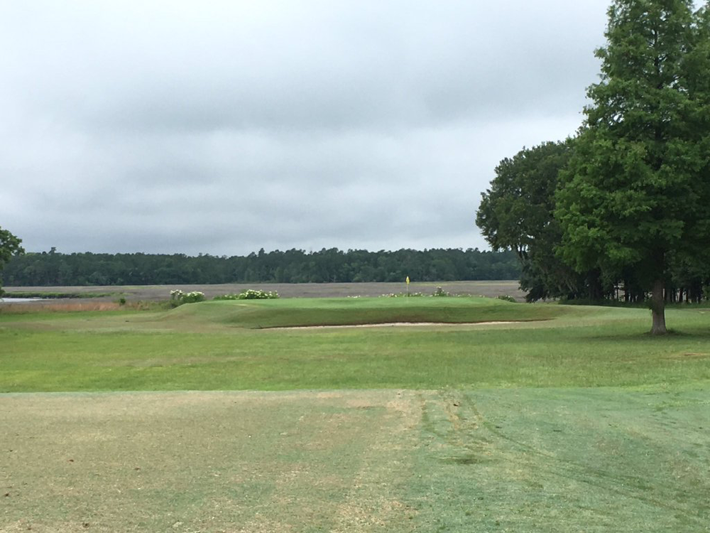 Seth Raynor's Yeamans Hall features a beautiful and challenging short hole. Photo Credit:  An Ambulent Golfer