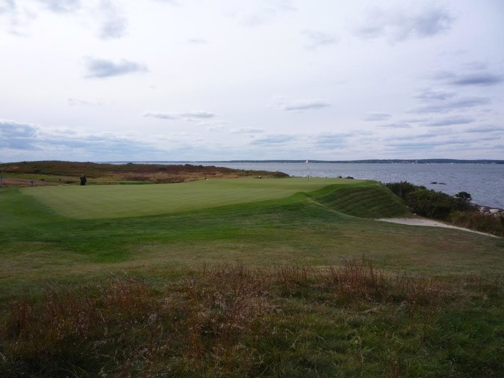 A look from the right side of the 9th at Fishers Island.