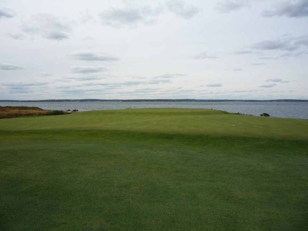 Just short of Fishers Island's 9th.