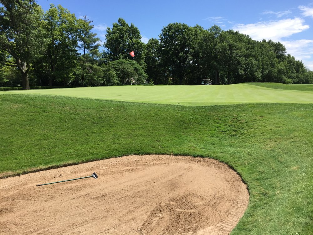 The side of the 15th, a double plateau green at St. Louis C.C.Photo Credit: Kyle Truax @TheTruArchitect