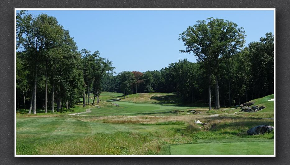 The tee shot at Sleepy Hollow's 12th hole. Photo Credit: The Bausch Collection at  MyPhillyGolf.com