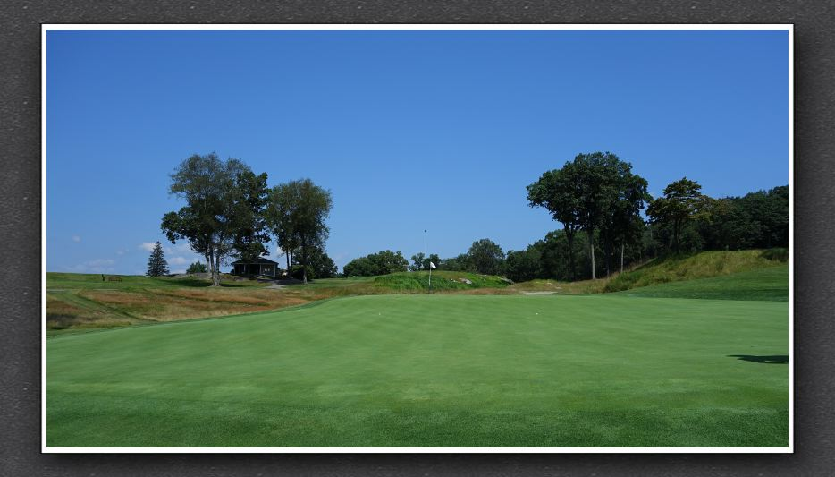 The double plateau green at Sleepy Hollow's 12th. Photo Credit: The Bausch Collection at  MyPhillyGolf.com