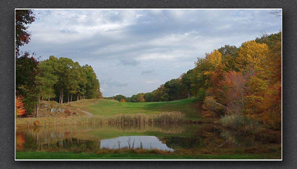 The blind tee shot at the 17th at Yale. Photo Credit: The Bausch Collection at  MyPhillyGolf.com