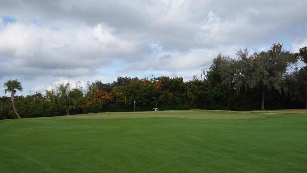 Mountain Lake's double plateau green. Photo Credit: The Bausch Collection at  MyPhillyGolf.com