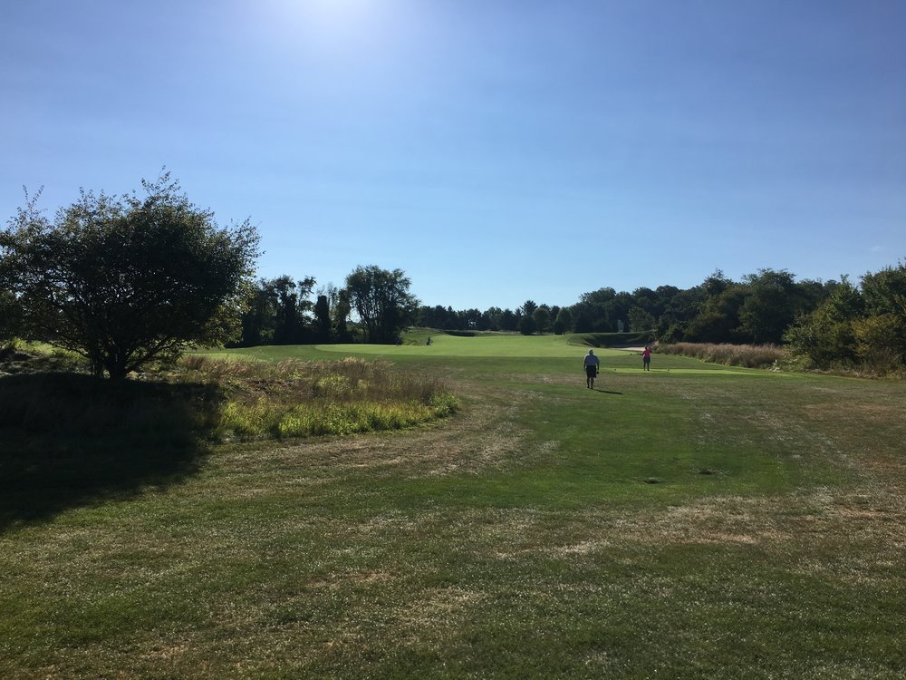 The tee shot at the par 4 2nd.