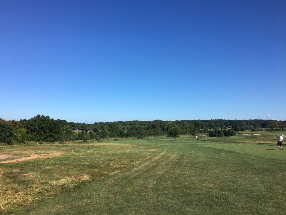 The tee shot at the 4th at Applebrook.
