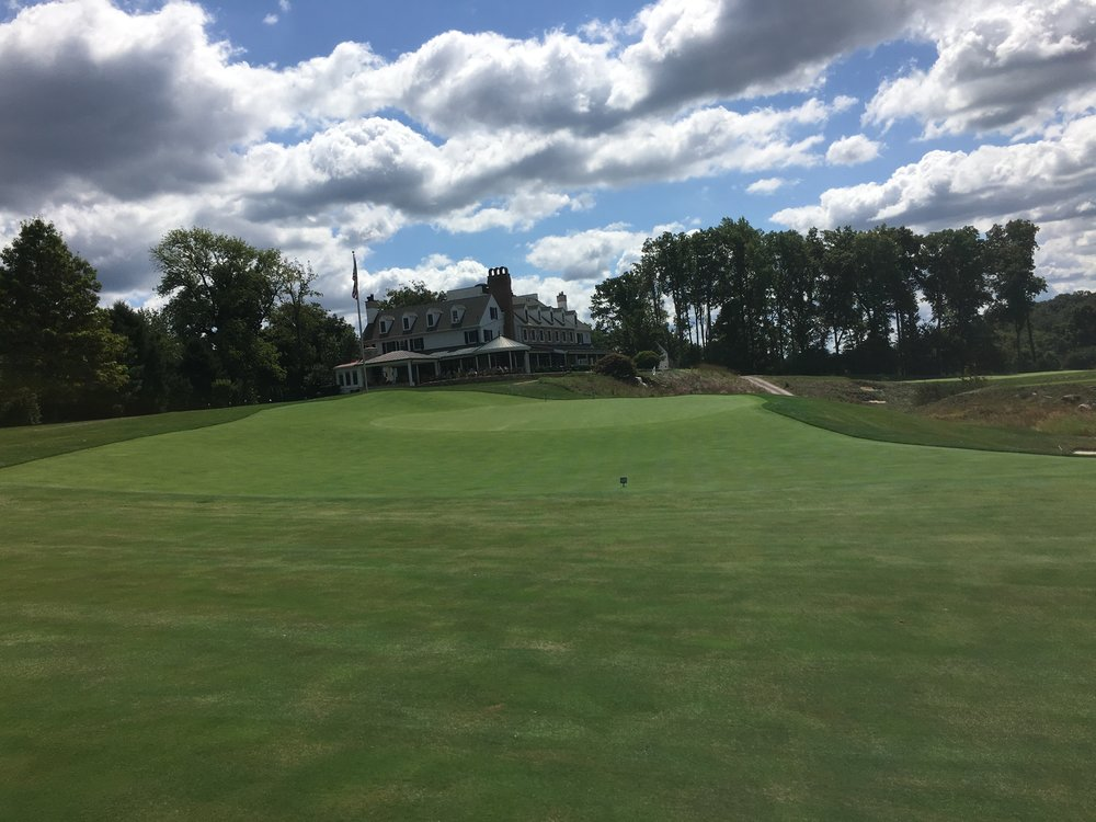 A view from left of the 18th green.
