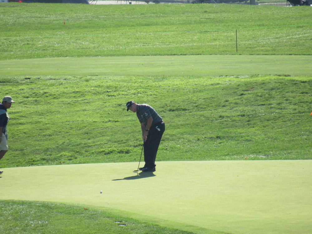D.A. Points rolling an eagle putt at the 12th.