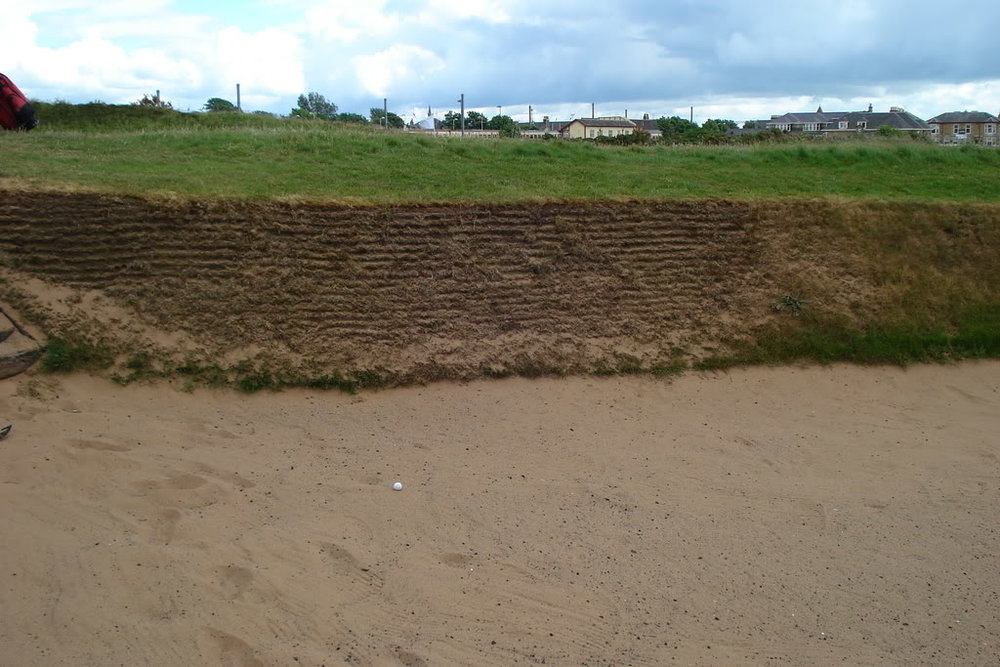 Missing short in the sahara bunker at Prestwick's 17th is not recommended. Photo Credit: Bryan Izatt.