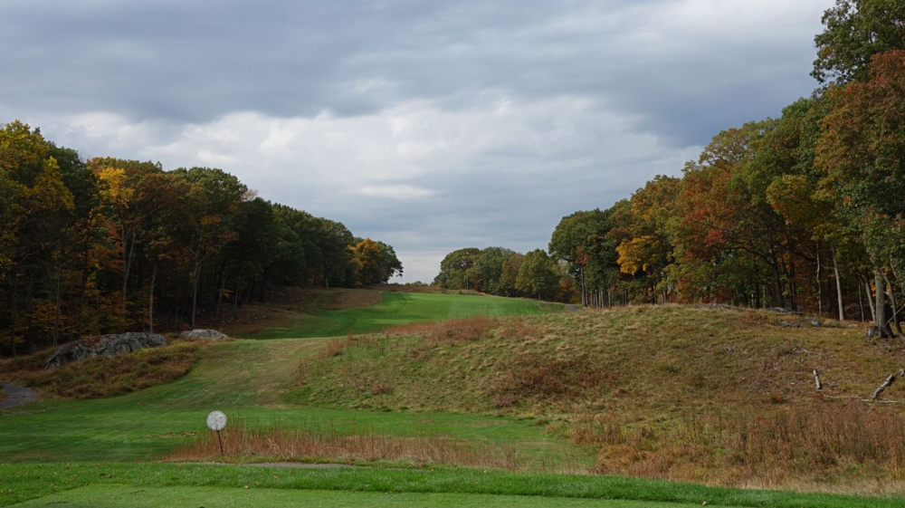 The tee shot at the Yale's 12th. Photo Credit: The Bausch Collection at  MyPhillyGolf.com