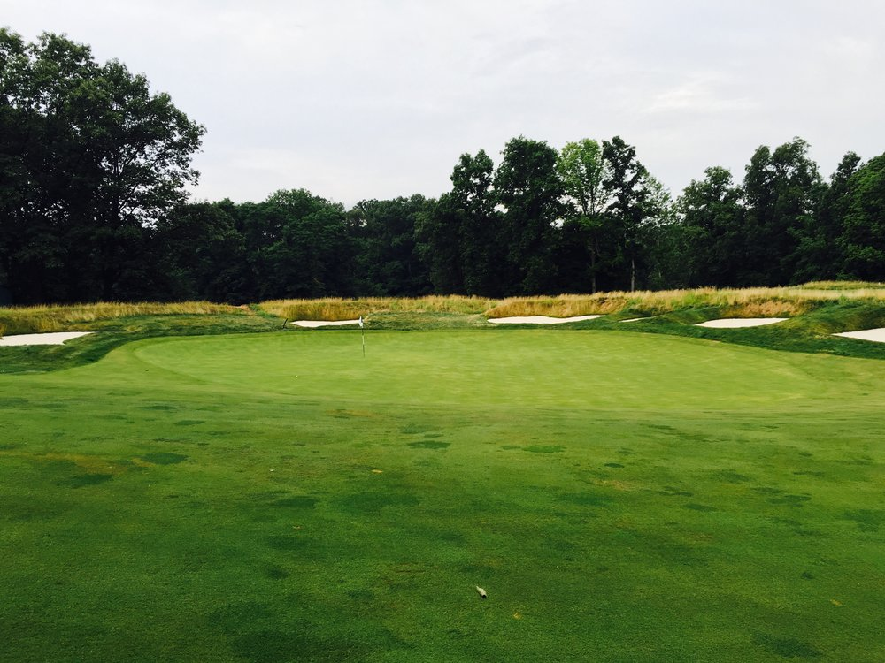 The front of Morris County's 7th green. Photo Credit:  Spencer Waresk