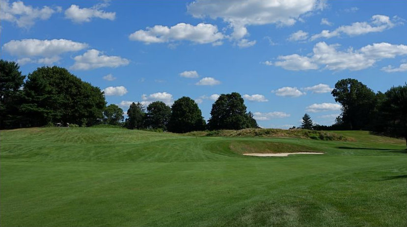 The obstructed view from the fairway of the 5th at Forsgate. Photo Credit: The Bausch Collection at  MyPhillyGolf.com
