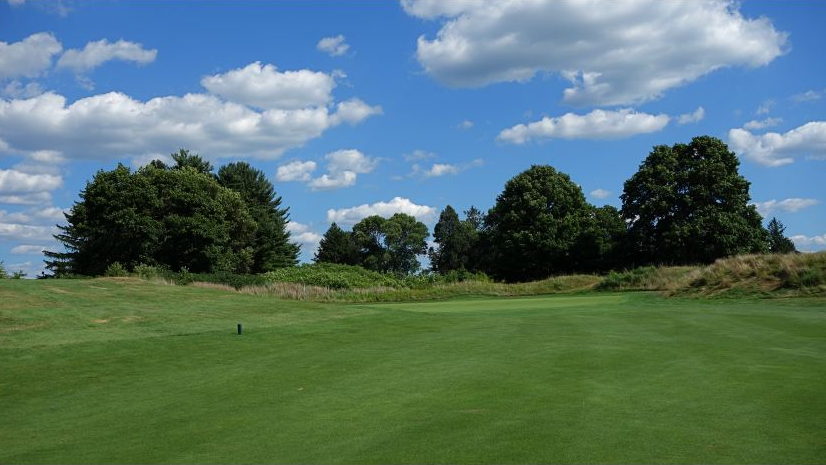 A look at the front of the green at Forsgate's 5th hole. Photo Credit: The Bausch Collection at  MyPhillyGolf.com