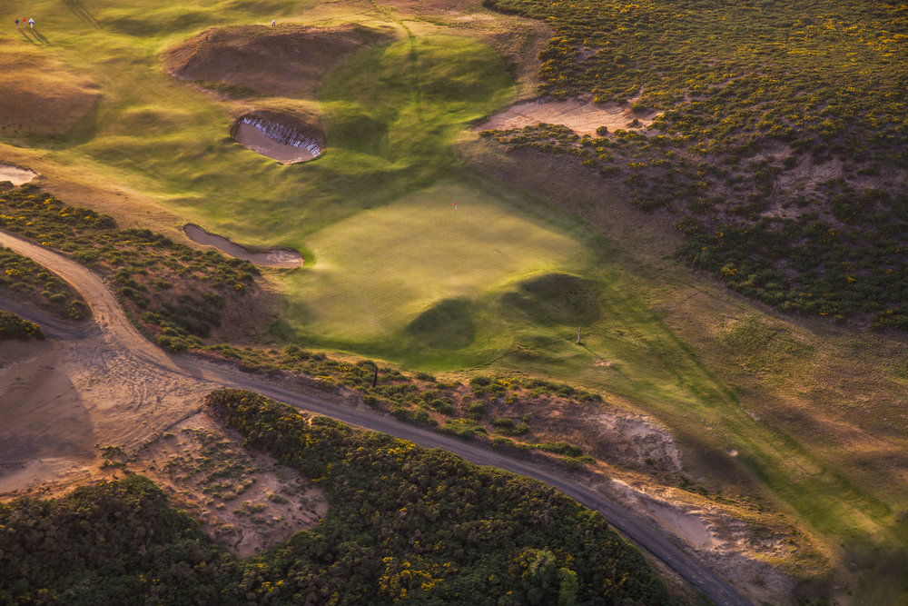 A look from above the 16th at Old Macdonald. Photo Credit:  Bandon Dunes Golf Resort  & Timothy Scahill.
