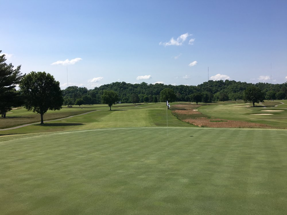 A look from the back of the 18th green at Holston Hills.