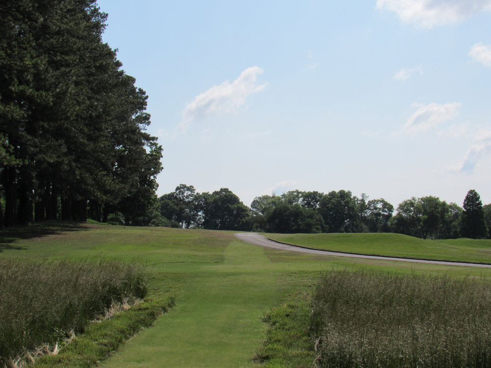 The blind 13th tee shot at Holston Hills.