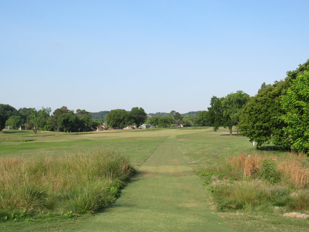 The back tee at the par 5 6th.