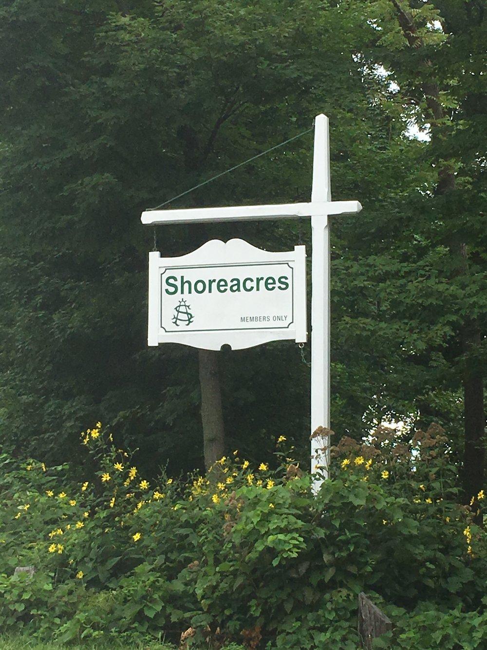 Shoreacres understated entrance.