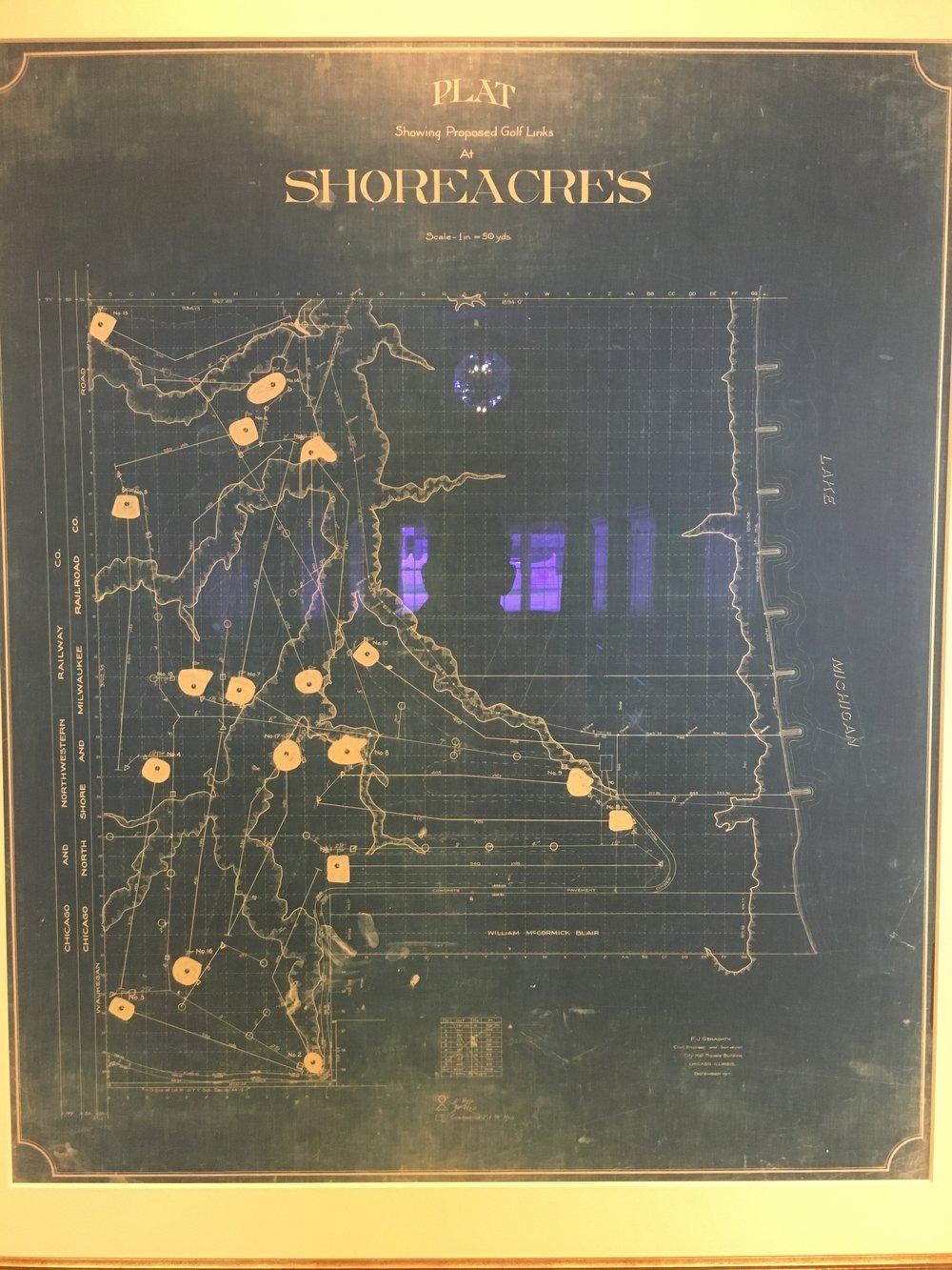 Raynor's original master plan for Shoreacres