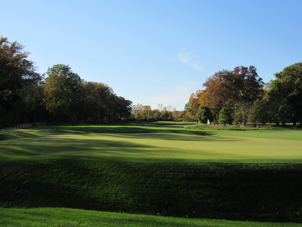 From left of the creek on the second green.