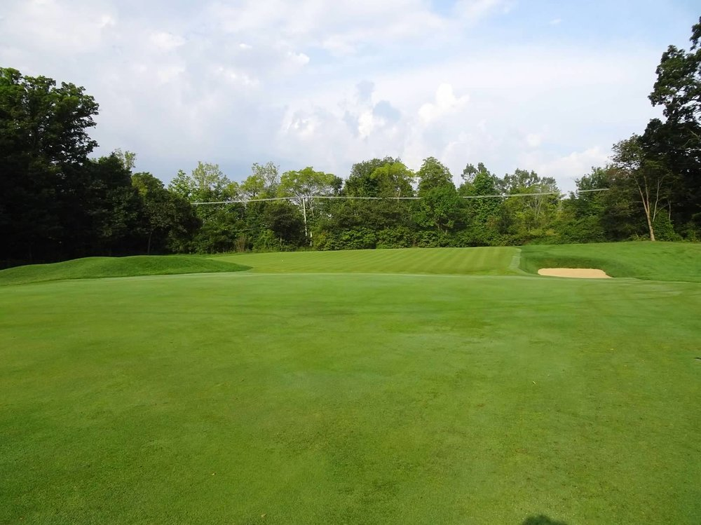 The approach to the 3rd from the right side of the fairway.