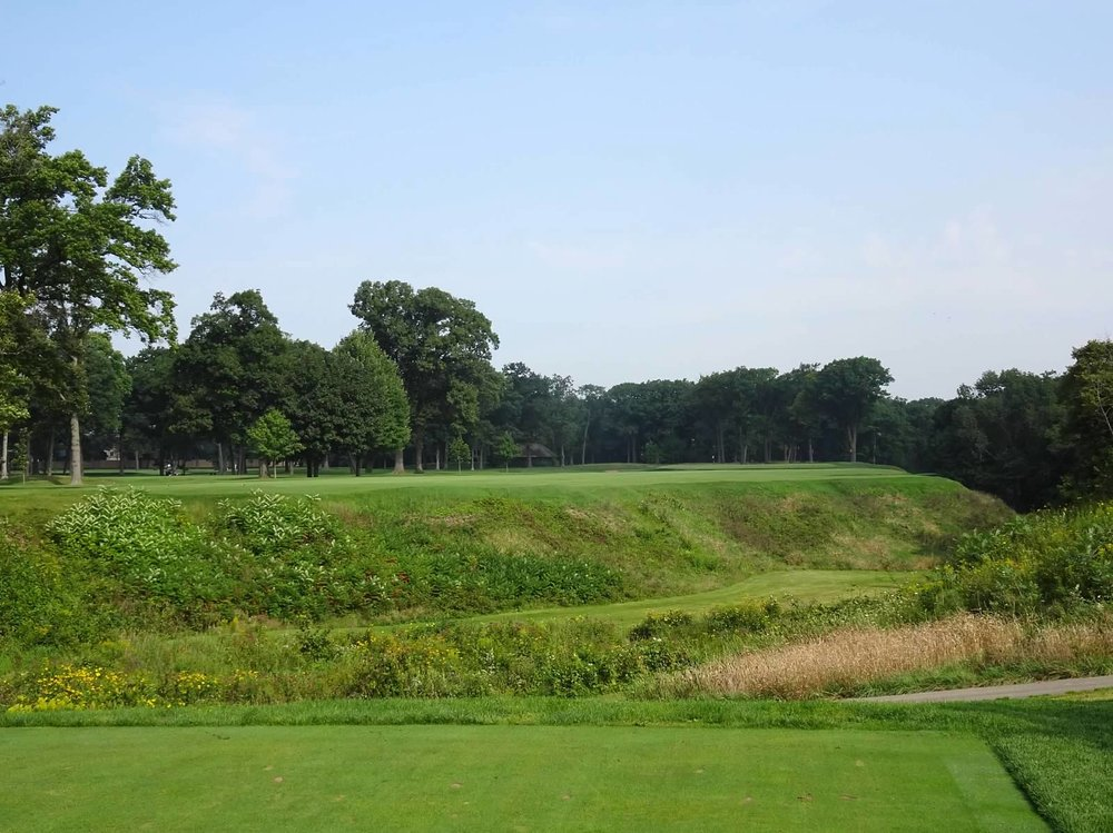 The thrilling 11th tee shot over the ravine.