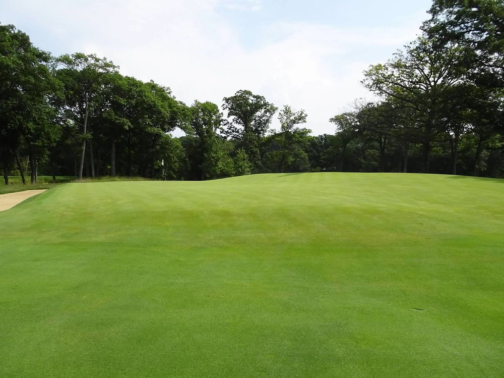 The front right of the 14th green.