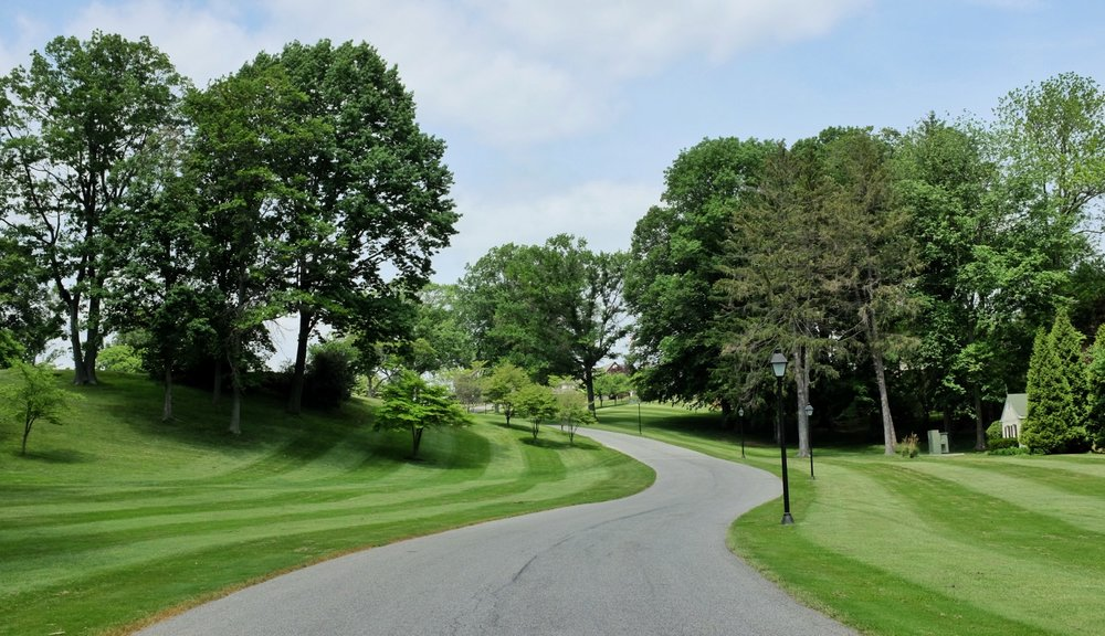 The drive into Rolling Green Golf Club. Photo Credit:  @linksgems