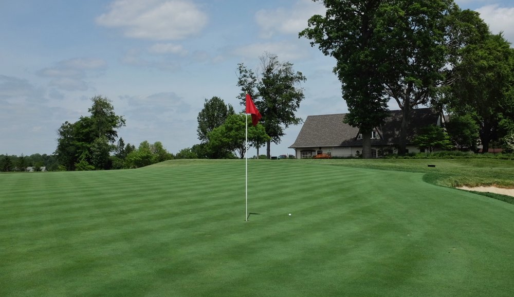 Another green with severe back to front slope. Photo Credit:  @linksgems