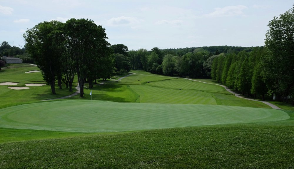 Looking back at one of Rolling Green's signature holes the 8th. Photo Credit:  @linksgems