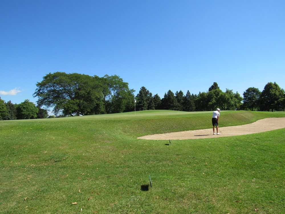From left of the redan green at the first hole of Blue Mound.